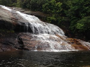 Upper Falls at Graveyard Fields along the Blue Ridge Parkway.